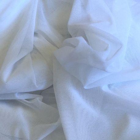 Tulle stretch blanc