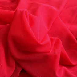 Tulle stretch rouge