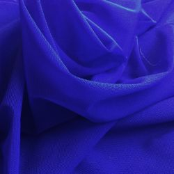 Tulle stretch bleu roi
