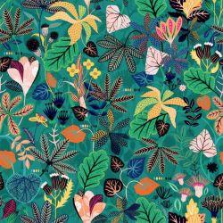 Viscose Gardenia feuillage vert