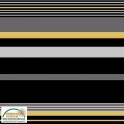 Jersey rayures noir/gris/jaune