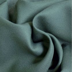 Crêpe de viscose smoke green