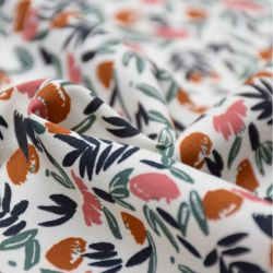 Viscose jungle de fleurs blush