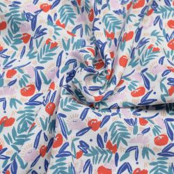 Viscose jungle de fleurs red