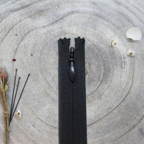 Zip invisible Atelier Brunette 20 cm black