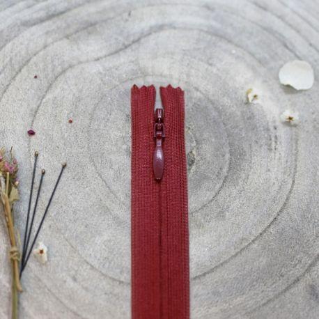 Zip invisible Atelier Brunette 40 cm amarante
