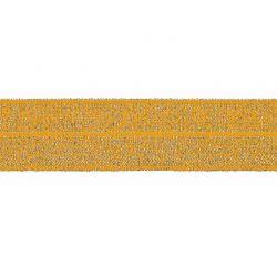Biais élastique préplié scintillant moutarde-20mm
