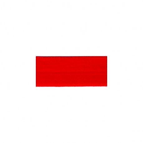 Biais élastique préplié mat rouge-25mm
