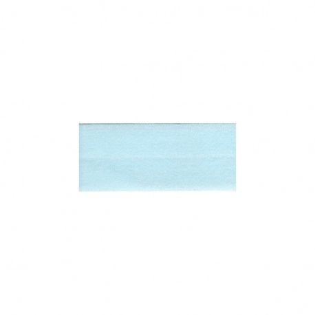 Biais élastique préplié mat aqua-25mm