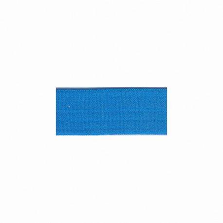 Biais élastique préplié mat turquoise-25mm