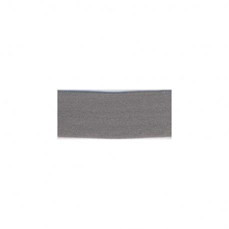 Biais élastique préplié mat gris foncé