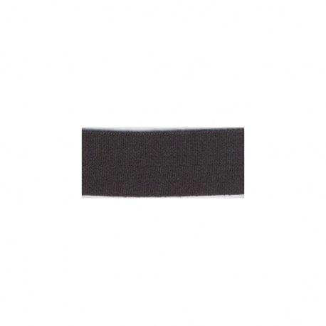 Biais élastique préplié mat noir-20mm