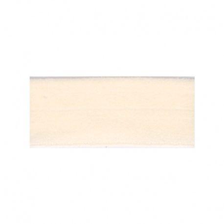 Biais élastique préplié mat blanc cassé-20mm