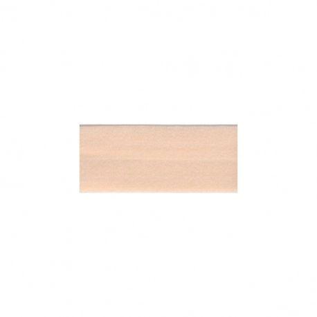 Biais élastique préplié mat nude-20mm