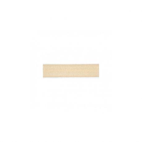 Biais élastique préplié brillant nude-15mm