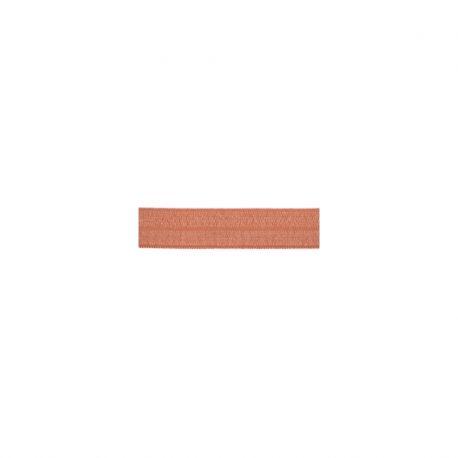 Biais élastique préplié brillant marsala-15mm