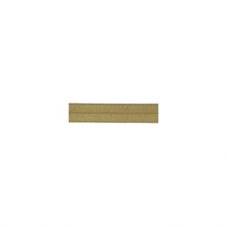 Biais élastique préplié brillant vert amande-15mm