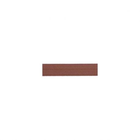 Biais élastique préplié brillant chocolat-15mm