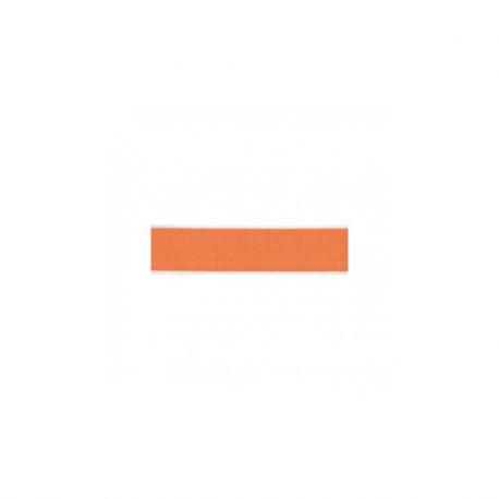 Biais élastique préplié brillant orange-15mm