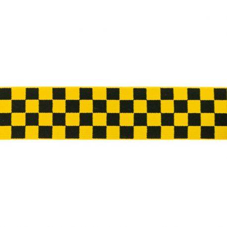 Élastique shorty damiers jaune