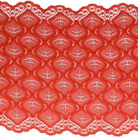 Dentelle élastique 21 cm rouge