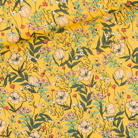 Lycra summer flowers
