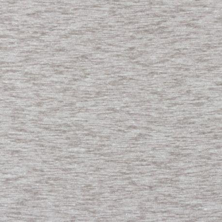Jersey flammé coton/lin taupe