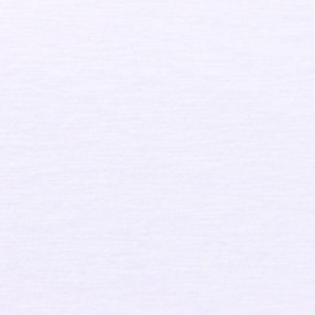 Jersey flammé coton/lin blanc