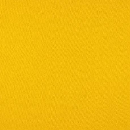 Satin de coton stretch uni ocre jaune