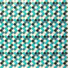 Jersey moroccan tiles turquoise