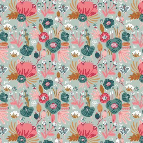 Jersey bio flower bouquet menthe