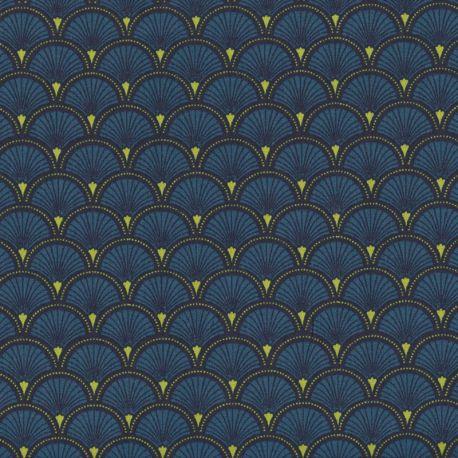 Coton doucet bleu pétrole
