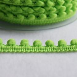 Galon à mini pompons vert anis