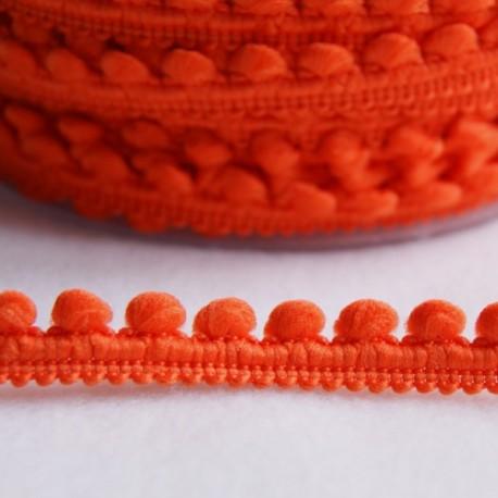 Galon à mini pompons orange