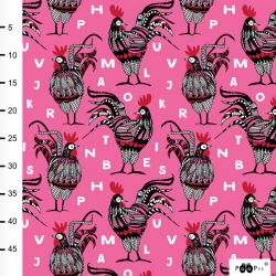 Jersey bio rooster rose/rouge