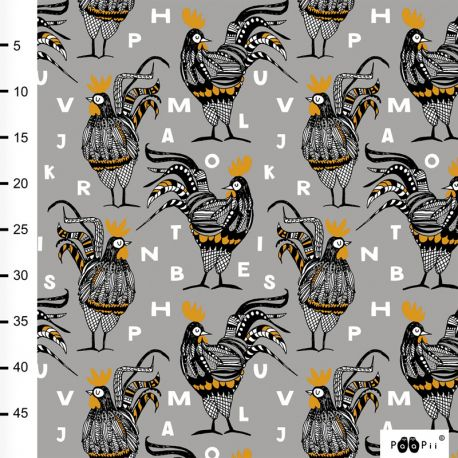 Jersey bio rooster gris/ocre