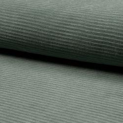 Jersey velours côtelé dusty mint