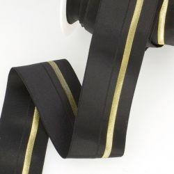Élastique cavalier noir/or - 40 mm