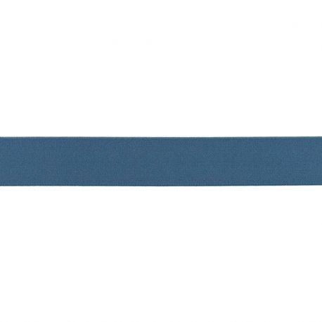 Élastique shorty uni bleu jeans- 25mm