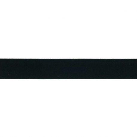 Élastique shorty uni noir- 25mm