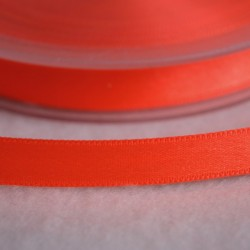 Ruban satin 6 mm orange fluo