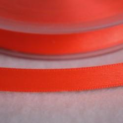Ruban satin 10 mm orange fluo