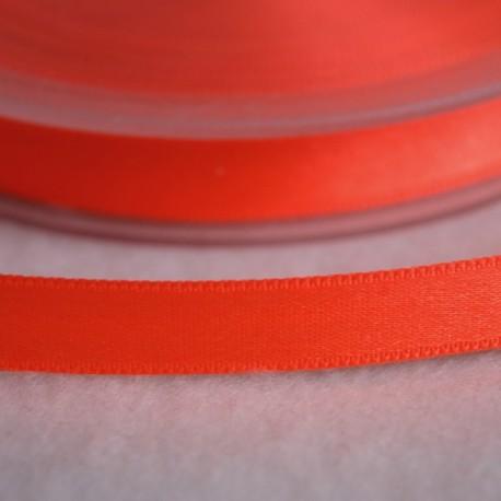 Ruban satin 6 mm orange fluo