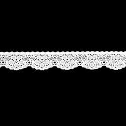 Bande dentelle élastique 25 mm blanche