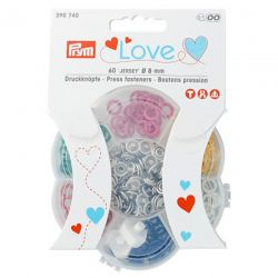 Pressions Prym love jersey assortiment - 60 pièces
