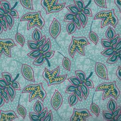 Coton bio kauai feuilles menthe