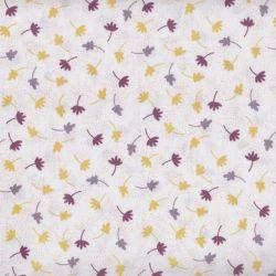 Coton bio kauai semis jaune/purple