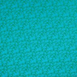Molleton polly flower turquoise/vert