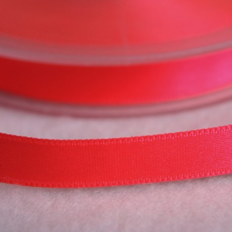 Ruban satin 6 mm rose fluo