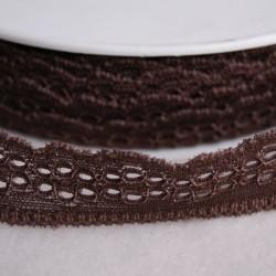 Dentelle élastique 25 mm chocolat